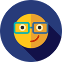 nerd, emoticons, Emoji, Smileys DarkSlateBlue icon