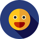 Face, Emoticon, smiling, Gestures, Smileys, happy, smiley, people, smile DarkSlateBlue icon