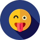 Emoji, feelings, Smileys, wink, emoticons DarkSlateBlue icon