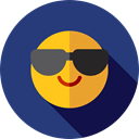 feelings, Smileys, cool, emoticons, Emoji DarkSlateBlue icon