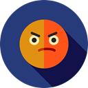 Angry, emoticons, Emoji, feelings, Smileys DarkSlateBlue icon