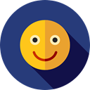 emoticons, Emoji, feelings, Smileys, happy DarkSlateBlue icon