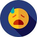 sad, emoticons, Emoji, feelings, Smileys DarkSlateBlue icon
