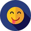 Embarrassed, emoticons, Emoji, feelings, Smileys DarkSlateBlue icon