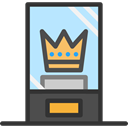 crown, museum, Relics, Exhibit, Art And Design DarkSlateGray icon