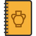 Notebook, writing, School Material, Office Material, Art And Design Goldenrod icon
