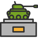 weapons, Tanks, Art And Design, transportation, transport, war, Military, Army, Tank DarkSlateGray icon