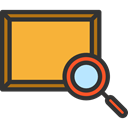 Loupe, Tools And Utensils, Art And Design, search, magnifying glass, zoom, detective, Painting Goldenrod icon