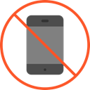 phone, forbidden, mobile phone, Prohibited, prohibition, Signaling, No Phone Black icon