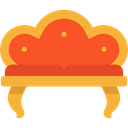 furniture, sofa, Armchair, livingroom, Comfortable, Furniture And Household Goldenrod icon