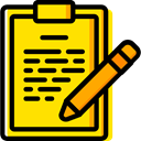 Clipboard, list, miscellaneous, Tasks, checking, Verification, Tools And Utensils, Files And Folders Gold icon