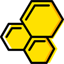 education, Cells, Biology, Hexagon, medical, Healthcare And Medical Gold icon