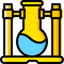 flask, chemical, laboratory, Flasks, education, Chemistry Gold icon