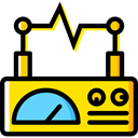 miscellaneous, electricity, signal, education, Line Chart Black icon