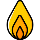 Flame, nature, Burning, danger, fire, education, Element Black icon