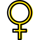 venus, signs, Signaling, Femenine, Female, woman, Girl, education, Gender, symbol Black icon