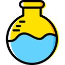 science, education, Chemistry, flask, chemical, Test Tube, Flasks LightSkyBlue icon