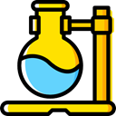Flasks, Chemistry, flask, chemical, Test Tube, science, education Black icon
