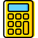 calculator, education, technology, maths, Calculating, Technological Gold icon