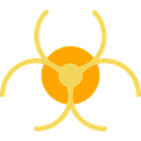 education, Biohazard, Toxic, danger, hazard, Signaling Black icon