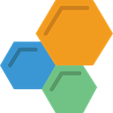 medical, education, Cells, Biology, Hexagon, Healthcare And Medical Goldenrod icon
