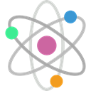 nuclear, Electron, physics, Atoms, science, Atomic, education Black icon