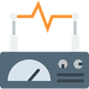 miscellaneous, electricity, signal, education, Line Chart DimGray icon