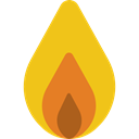 Element, Flame, nature, Burning, danger, fire, education Gold icon