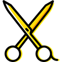 Cut, scissors, miscellaneous, Cutting, Beauty, Tools And Utensils, Handcraft, Construction And Tools Black icon