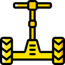 transportation, transport, urban, segway Black icon