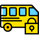 Automobile, Public transport, transportation, transport, vehicle, Bus Gold icon