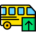 Bus, Automobile, Public transport, transportation, transport, vehicle Black icon
