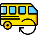 transportation, transport, vehicle, Bus, Automobile, Public transport Gold icon