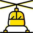 transportation, transport, flight, emergency, medical, Helicopter, Chopper, Aircraft Black icon