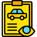 Car, repair, transportation, diagnostic, garage, Car Repair, notepad Gold icon