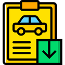 garage, Car Repair, diagnostic, notepad, Car, repair, transportation Gold icon