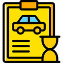 diagnostic, garage, Car Repair, notepad, Car, repair, transportation Gold icon