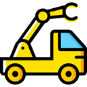 transportation, truck, transport, mechanic, Crane, garage, Trucks, Cranes Black icon
