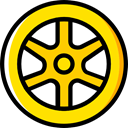 wheel, Car, transportation, transport, vehicle, Automobile, Alloy Wheel Gold icon