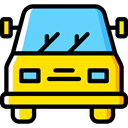 transportation, transport, vehicle, Automobile, Car Gold icon