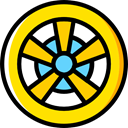 wheel, Automobile, Alloy Wheel, Car, transportation, transport, vehicle Gold icon