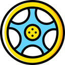 wheel, Car, transportation, transport, vehicle, Automobile, Alloy Wheel Icon
