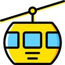 transportation, transport, Cable car, Cabin, Ski Resort, Cable Car Cabin Gold icon