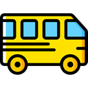 transportation, truck, transport, vehicle, Bus, Automobile, Public transport Gold icon