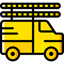transportation, truck, transport, vehicle, Delivery, Automobile, Cargo Truck Gold icon