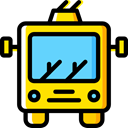 trolley, transportation, transport Black icon