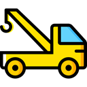 transportation, truck, transport, mechanic, Crane, garage, Trucks, Cranes Icon