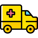 medical, transportation, transport, vehicle, Ambulance, emergency, Automobile Gold icon