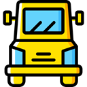 vehicle, Automobile, Delivery Truck, Cargo Truck, Delivery, transportation, truck, transport Gold icon