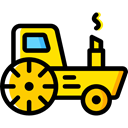Farming, transportation, transport, vehicle, tractor Black icon